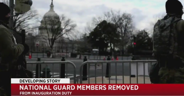 12 Army National Guard Members Removed from Inauguration Duty