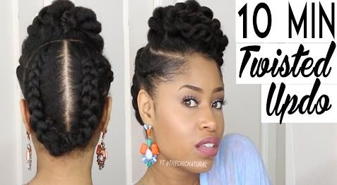 A 10 Minute Twisted Updo Perfect For Any Occasion