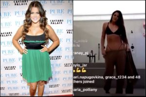 Khloe Kardashian Does a Blurry IG Live to Prove Her Created Body is Real After Unedited Pic Released