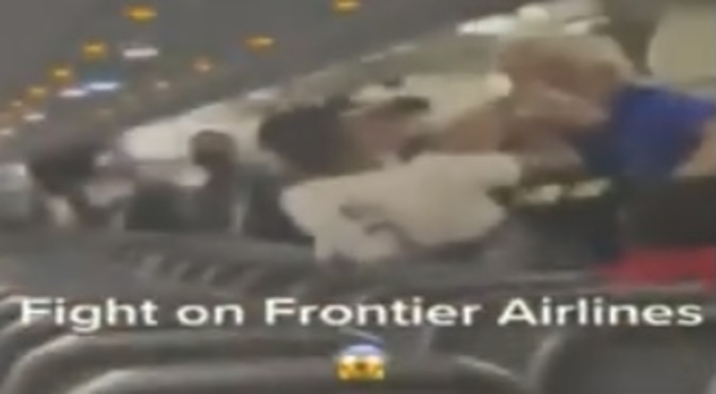 Watch Fight Break Out on Frontier Airlines Flight Landing in Miami After White Man Called Black Man N-Word