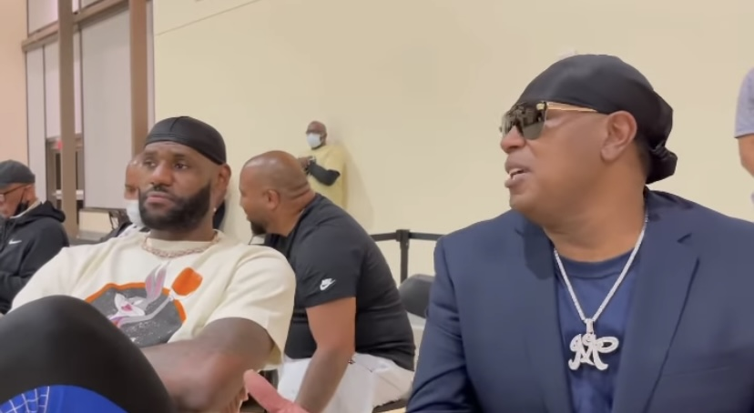 Watch LeBron James and Master P Discuss Fatherhood During Their Kids' AAU Game (Video)