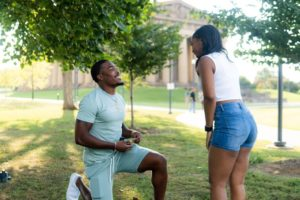 Titans RB Darrynton Evans Proposing To His Girlfriend Aiyana Willoughby
